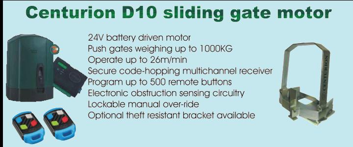 Centurion D10 sliding gate motor