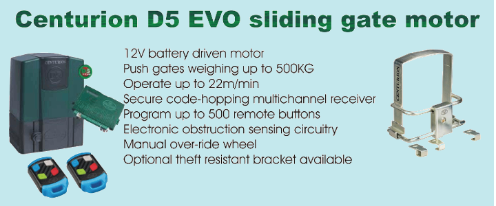 Centurion D5 EVO sliding gate motor