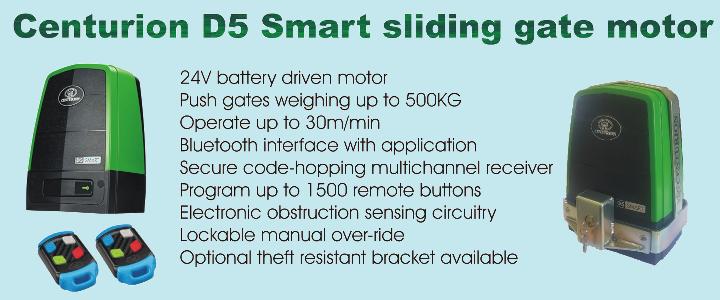 Centurion D5 Smart sliding gate motor