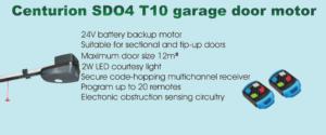 Centurion SDO4 T10 garage door motor