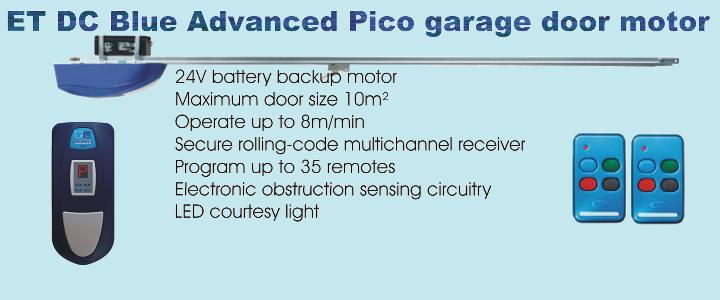 ET DC Blue Advanced Pico garage door motor