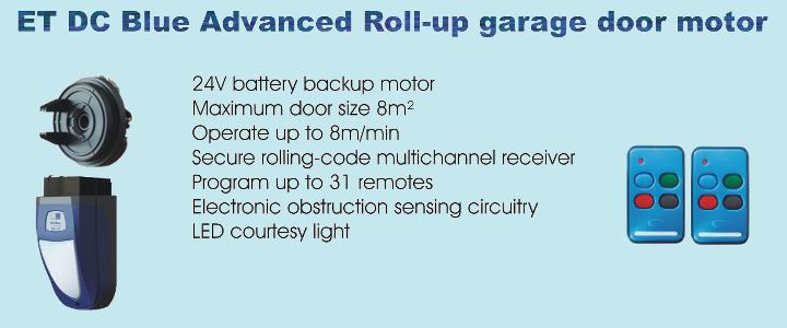ET DC Blue Advanced Roll-up garage door motor