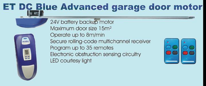 ET DC Blue Advanced garage door motor