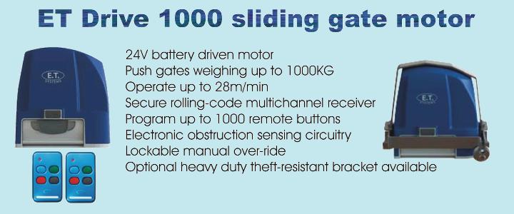 ET Drive 1000 sliding gate motor