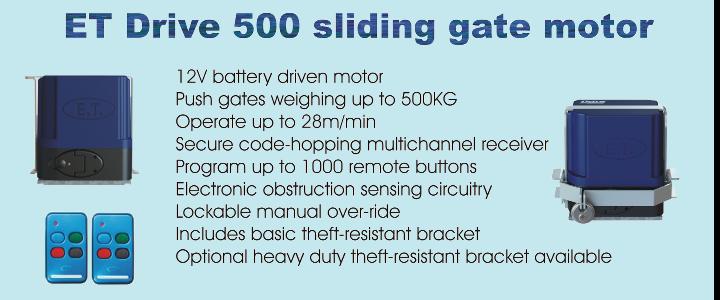 ET Drve 500 sliding gate motor