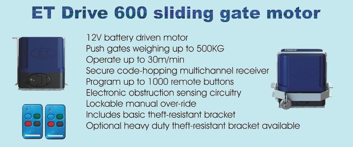 ET Drive 600 sliding gate motor