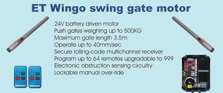 ET Wingo swing gate motor